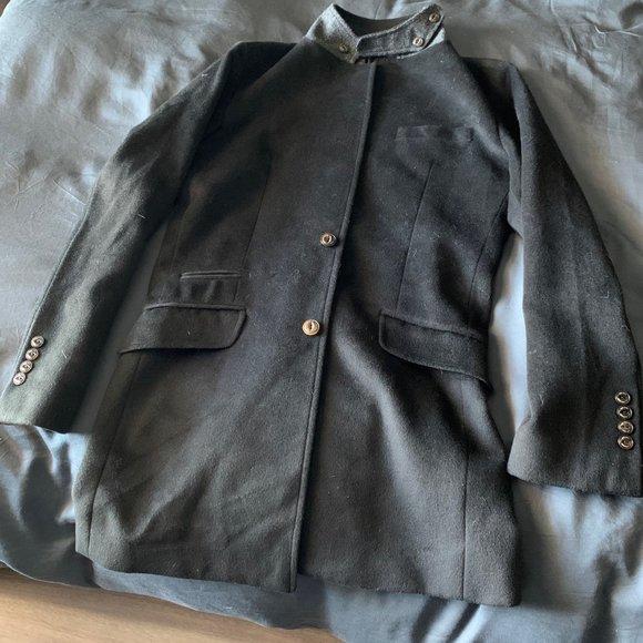 MAX HOMME Black Pea Coat Jacket